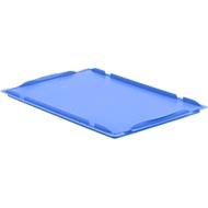Oplegdeksel D64 voor Euronorm bak LTB/ELB, 600 x 400 mm, blauw