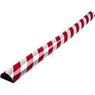 Oppervlaktebescherming type C, 1 m/stuk, rood/wit reflecterend