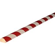 Oppervlaktebescherming type C, 5 m/rol, wit/rood