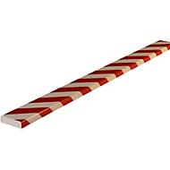 Oppervlaktebescherming type S, 1 m/stuk, wit/rood