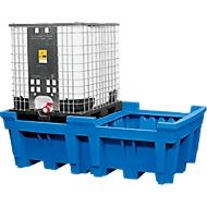 Opslag- en aftapstation voor 1 tankcontainer, met gegalvaniseerd rooster