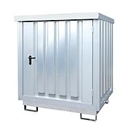 Opslagplaats voor gevaarlijke stoffen Bauer type GD-E 2, afsluitbaar, capaciteit 2 x 200 l vaten, gegalvaniseerd