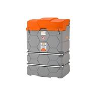 Opslagtank voor afgewerkte olie CUBE, Kant-en-klare installatie, B1200xD800xH1800 mm, 1000 l, met vuilzeef & opvangbak