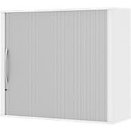 Opzetroldeurkast BARI, 4 legborden, middenwand, slot, H 1057 mm, wit