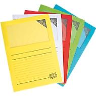 Organisationsmappen mit Sichtfenster Elco Ordo Classico, B 220 x H 310 mm, 120 g/m² Papier, farbsortiert, 10 Stück