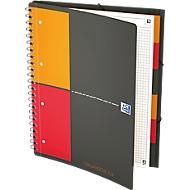 Organiserbook Oxford International A4+, doppelspiralgebunden, kariert, 80 Blatt, SCRIBZEE®-komp., 5 Stk
