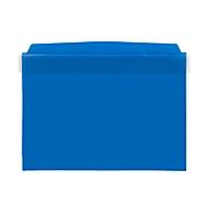 Orgatex insteekhoezen, m. klep, A5 liggend, blauw, 50 st.