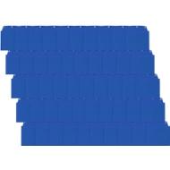 Orgatex Sichttaschen, A6 quer, blau, 50 St.