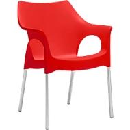 Outdoorstoel OLA, rood