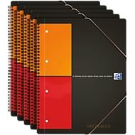 Oxford International Notizbuch, DIN A4, liniert, 5 Stück