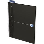 Oxford Office collegeblok, A4+, 70 vellen gelinieerd, 5 stuks per verpakking, zwart