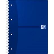Oxford Office collegeblok, A4+, 70 vellen geruit, 5 stuks per verpakking, blauw