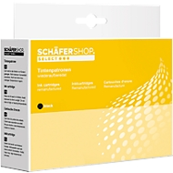 Pack éco: 6 cartouches d'encre Schaefer Shop compatibles Canon  2 x noir (PGI-520BK) 1 x noir(CLI-521BK), 3 x couleur (CLI-521 C/ M/ Y)