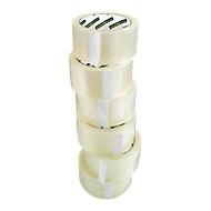 Packband Clip, L 66 m x B 50 mm, 50µ Gesamtstärke, mit Abroller, PP-Folie,transparent, 6 Rollen