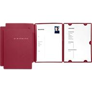 PAGNA Bewerbungmappen Select 3er Set, DIN A4-Format, Karton, Kapazität 30 Blatt, rot