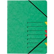 PAGNA Dokumentenmappe Easy, DIN A4, Gummizugverschluss, 7-teilig, grün