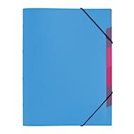 PAGNA Dokumentenmappe Funky School, Gummizugverschluss, 5-teilig, PP, hellblau