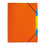 PAGNA Dokumentenmappe Funky School, Gummizugverschluss, 5-teilig, PP, orange