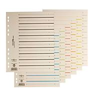 PAGNA Easy Rip Trennblätter, DIN A4-Format, Linienaufdruck, 10 Stück, farblich sortiert
