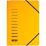 PAGNA Eckspannmappe, DIN A4, 3 Einschlagklappen, 25 Stück, gelb