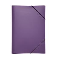 Pagna Eckspannmappe, DIN A4, aus PP, drei Innenklappen, lila