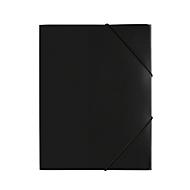 Pagna Eckspannmappe, DIN A4, aus PP, drei Innenklappen, schwarz