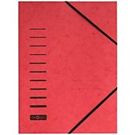 PAGNA Eckspannmappe, DIN A4, Gummizugverschluss, 25 Stück, rot