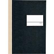 PAGNA Notaboek met harde kaft , met etiket, A5, geruit, zwart, stuk