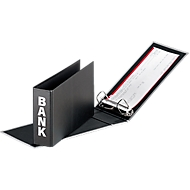 PAGNA ordner voor bankafschriften, PP karton, rugbreedte 52 mm,  A5 liggend, zwart