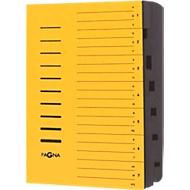 PAGNA Ordnungsmappe, für DIN A4, 7 Fächer, Pressspan, 5 Stück, gelb