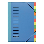 PAGNA Pultordner Color, für DIN A4, Polypropylen, 12 Fächer, blau