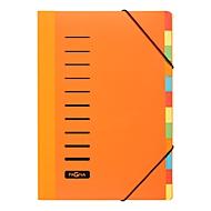 PAGNA Pultordner Color, für DIN A4, Polypropylen, 12 Fächer, orange