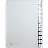 PAGNA Pultordner Silver, für DIN A4, A - Z, 24 Fächer, silber metallic
