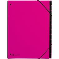 Pagna Pultordner Trend, für DIN A4, Karton, 12 Fächer, dunkelrosa