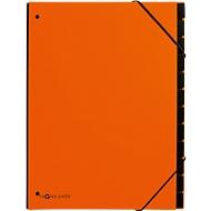 Pagna Pultordner Trend, für DIN A4, Karton, 12 Fächer, orange