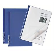 PAGNA sollicitatiemappen Score, set van 3, A4-formaat, karton, capaciteit 20 vellen, blauw