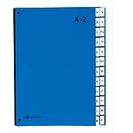 PAGNA sorteermap Color A-Z, ook voor oversized maten, polypropeen,  blauw