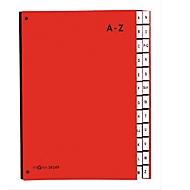 PAGNA sorteermap Color A-Z, ook voor oversized maten, polypropeen, rood