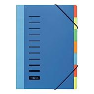 PAGNA sorteermap Color, voor A4,  7 waaiers, polypropeen, blauw