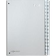 PAGNA sorteermap Silver, voor A4, 1 - 31, 32 waaiers, zilver metallic