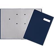 PAGNA Unterschriftenmappe, 20 Fächer, Karton/Leinenbezug, blau