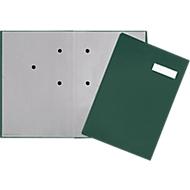 PAGNA Unterschriftenmappe, 20 Fächer, Karton/Leinenbezug, grün
