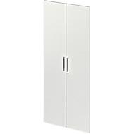 Paire de portes TETRIS WOOD, 5 HC, l. 800 mm, gris clair