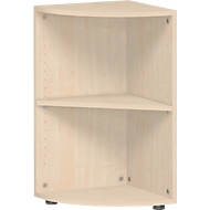 PALENQUE hoek boekenkast, 2 OH, B 400 x D 400 x H 752 mm, ahorndecor