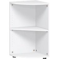 PALENQUE hoek boekenkast, 2 OH, B 400 x D 400 x H 752 mm, wit