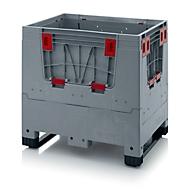 Palletbox Big Box, inklapbaar, 2 sleden, l 800 x b 600 x H 790 mm