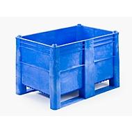 Palletbox, gesloten, 500 l, blauw