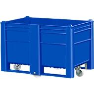 Palletbox, met 4 wielen, gesloten, 500 l