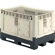 Palletbox met slede, inklapbaar, 565 liter
