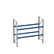 Palletstelling PR 600, basissectie, h 2500 mm, d 1100 mm, max. 800 kg, 2 lengtebalkniveaus
